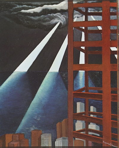A painting by Frank O'Connor which was reprinted in the twenty-fifth-anniversary edition of Ayn Rand's novel The Fountainhead.